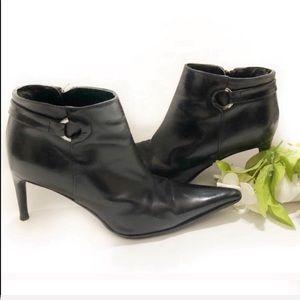 Charles David heel black ankle boots